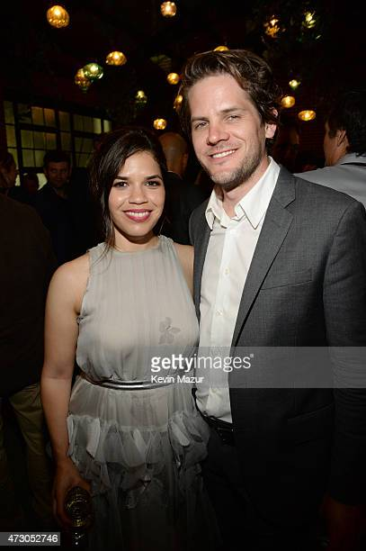 America Ferrera and Ryan Piers Williams attend 2015 CAA Upfronts Celebration Party on May 11 2015 in New York City