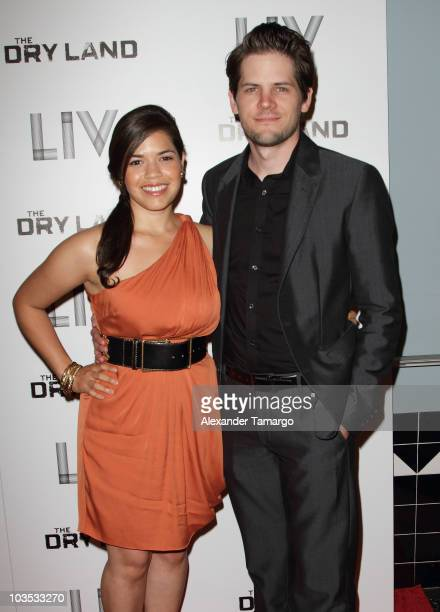 America Ferrera and Ryan Piers Williams attend Miami Premiere Screening of The Dry Land at Colony Theater on August 21 2010 in Miami Beach Florida