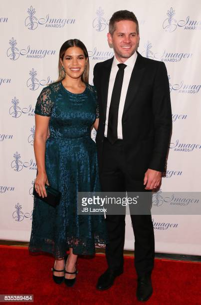 America Ferrera and Ryan Piers Williams attend the 32nd annual Imagen Awards on August 18 2017 in Los Angeles California