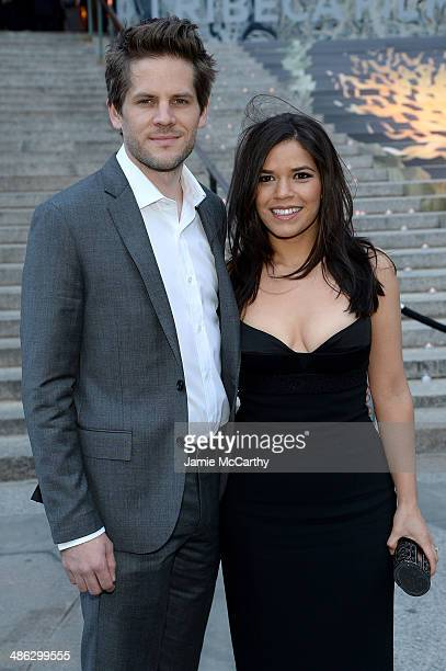 America Ferrera and Ryan Piers Williams attend the Vanity Fair Party during the 2014 Tribeca Film Festival at the State Supreme Courthouse on April...