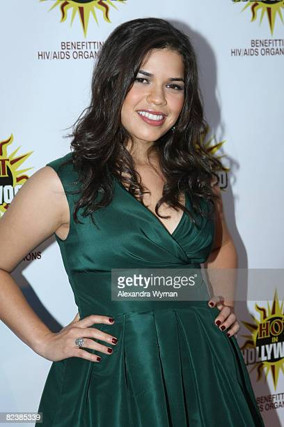 America Ferrera arrives at the 3rd Annual 'Hot In Hollywood' Event on August 16 2008 in Hollywood California