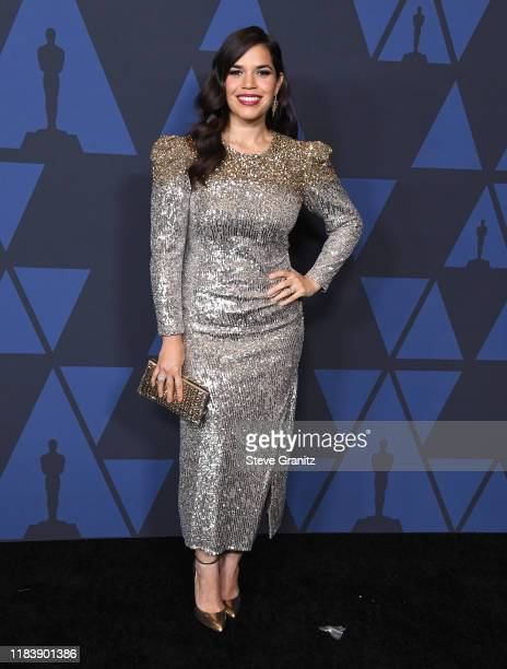 America Ferrera arrives at the Academy Of Motion Picture Arts And Sciences' 11th Annual Governors Awards at The Ray Dolby Ballroom at Hollywood...