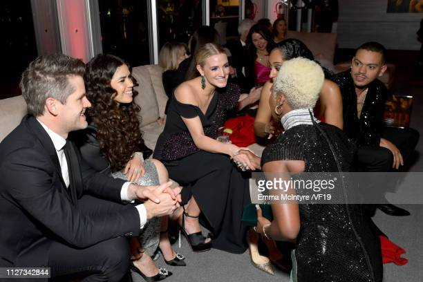 America Ferrera Ashlee Simpson and Cynthia Erivo attend the 2019 Vanity Fair Oscar Party hosted by Radhika Jones at Wallis Annenberg Center for the...