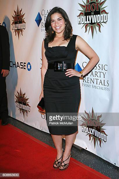 America Ferrera attends The 2007 Hot in Hollywood Party Arrivals at The Henry Fonda Theatre on August 18 2007 in Hollywood CA