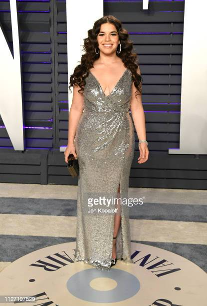 America Ferrera attends the 2019 Vanity Fair Oscar Party hosted by Radhika Jones at Wallis Annenberg Center for the Performing Arts on February 24...