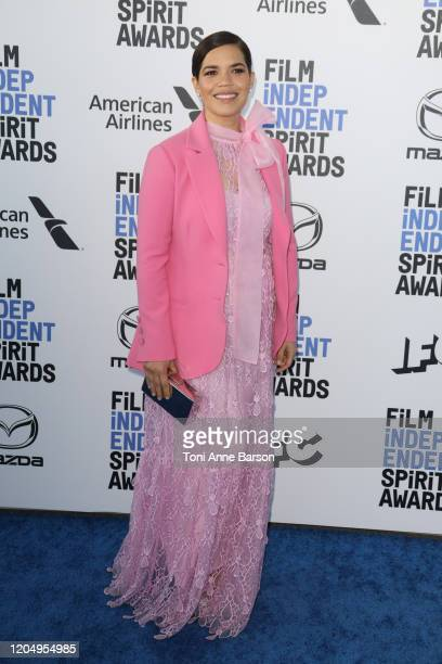 America Ferrera attends the 2020 Film Independent Spirit Awards on February 08, 2020 in Santa Monica, California.