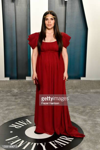 America Ferrera attends the 2020 Vanity Fair Oscar Party hosted by Radhika Jones at Wallis Annenberg Center for the Performing Arts on February 09,...