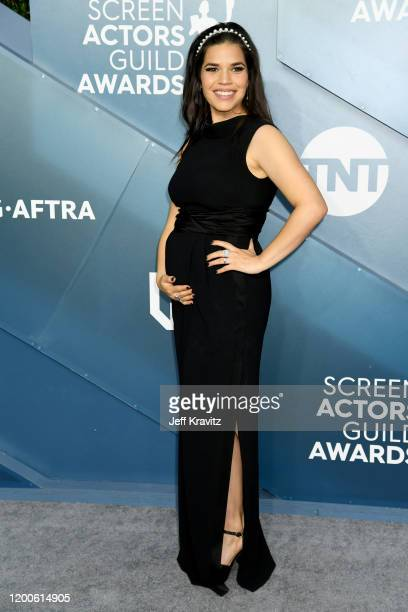 America Ferrera attends the 26th Annual Screen Actors Guild Awards at The Shrine Auditorium on January 19 2020 in Los Angeles California