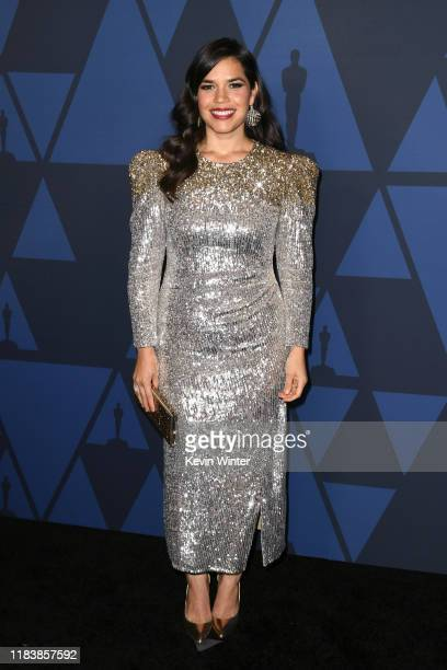 America Ferrera attends the Academy Of Motion Picture Arts And Sciences' 11th Annual Governors Awards at The Ray Dolby Ballroom at Hollywood Highland...
