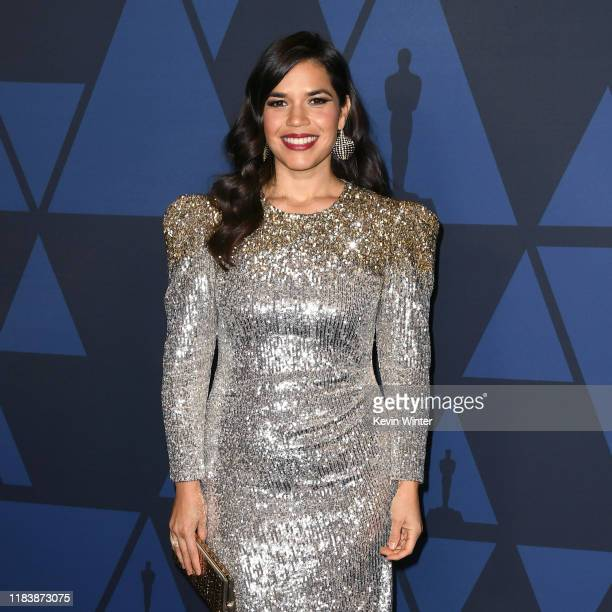 America Ferrera attends the Academy Of Motion Picture Arts And Sciences' 11th Annual Governors Awards at The Ray Dolby Ballroom at Hollywood &...