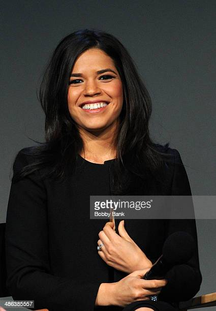 America Ferrera attends the Apple Store Soho Presents Ryan Piers Williams America Ferrera and Jon Paul Phillips 'X/Y' during the 2014 Tribeca Film...