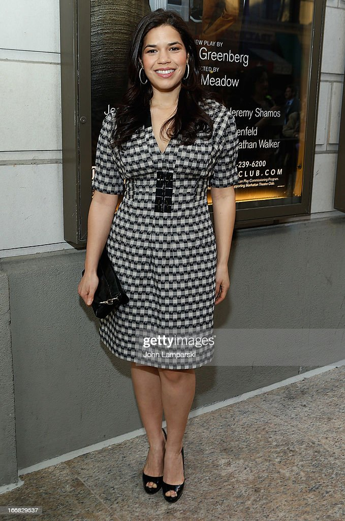 America Ferrera attends 'The Assembled Parties' Broadway Opening Night at the Samuel J. Friedman Theatre on April 17, 2013 in New York City.