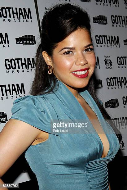 America Ferrera attends the celebration for cover girl America Ferrera star of the hit show Ugly Betty and avid supporter of peace games hosted by...