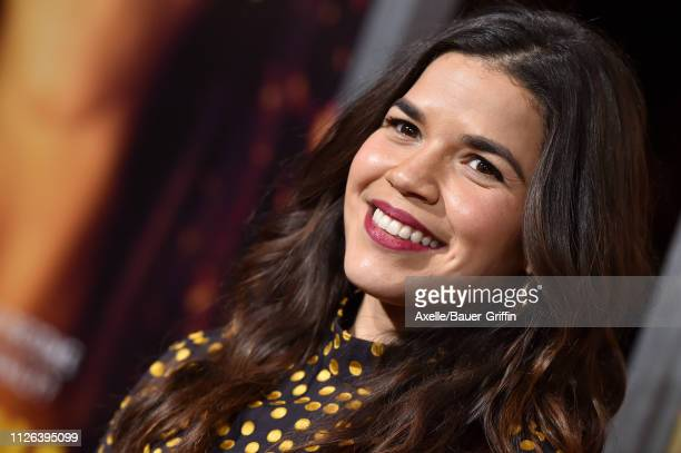America Ferrera attends the premiere of Columbia Pictures' 'Miss Bala' at Regal LA Live Stadium 14 on January 30 2019 in Los Angeles California