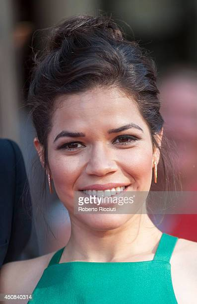 America Ferrera attends the Premiere of 'HYENA' at Festival Theatre during the Edinburgh International Film Festival on June 18 2014 in Edinburgh...