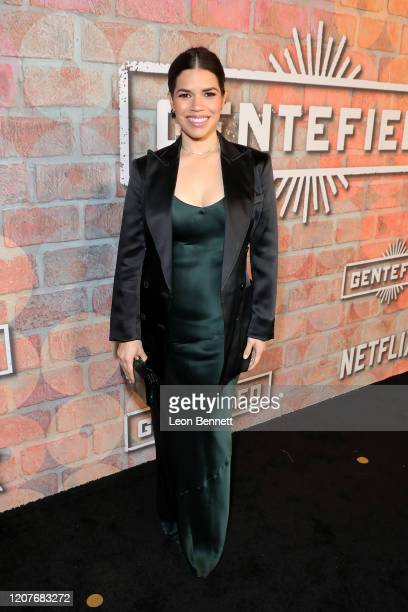 America Ferrera attends the premiere of Netflix's GENTIFIED Season 1 at Margo Albert Theatre on February 20, 2020 in Los Angeles, California.