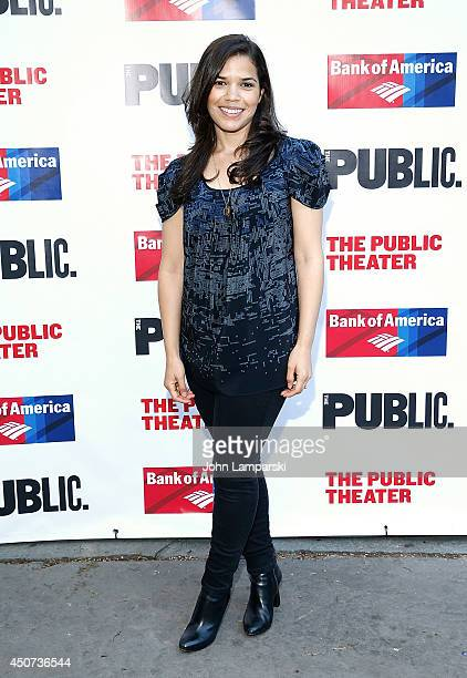 """America Ferrera attends The Public Theater's Opening Night Of """"Much Ado About Nothing"""" at Delacorte Theater on June 16, 2014 in New York City."""