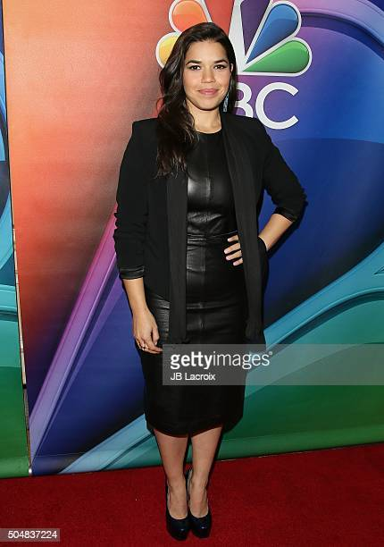 America Ferrera attends the Winter TCA Tour NBCUniversal Press Tour at the Langham Huntington Hotel on January 13 2016 in Pasadena California