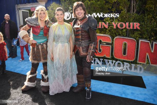 America Ferrera attends Universal Pictures and DreamWorks Animation Premiere of How to Train Your Dragon The Hidden World at Regency Village Theatre...