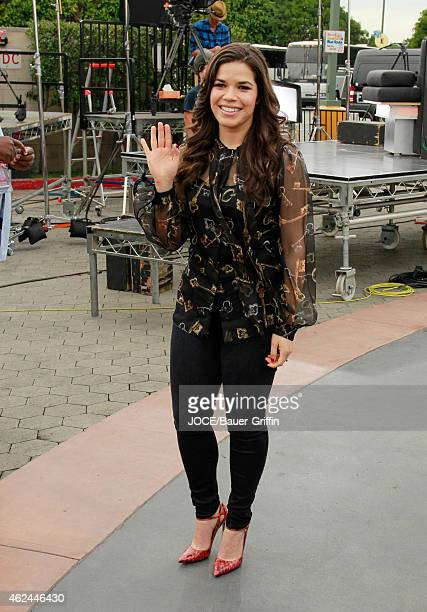 America Ferrera is seen at 'Extra' on January 28 2015 in Los Angeles California