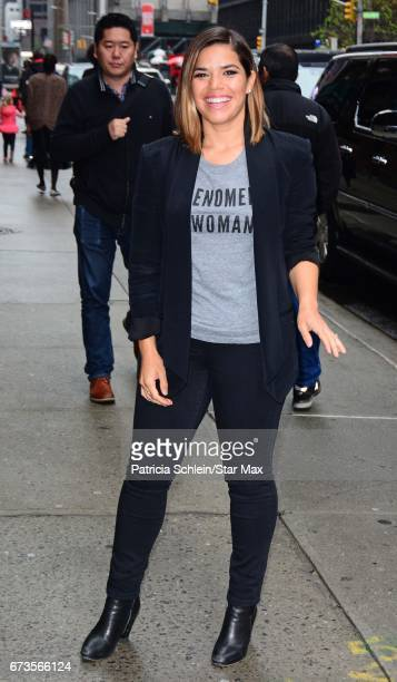 America Ferrera is seen on April 26 2017 in New York City