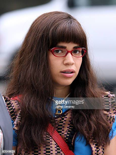 America Ferrera on location for Ugly Betty on July 23 2008 in New York City