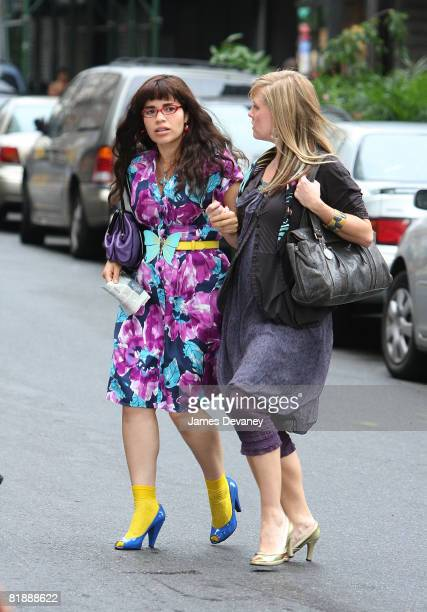 America Ferrera on the Manhattan set of Ugly Betty on July 9 2008 in New York City