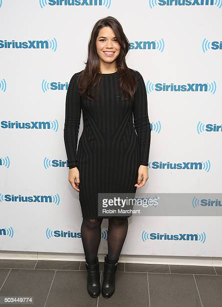 America Ferrera vistis at SiriusXM Studios on January 5 2016 in New York City