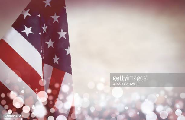 america flag and bokeh - politics abstract stock pictures, royalty-free photos & images
