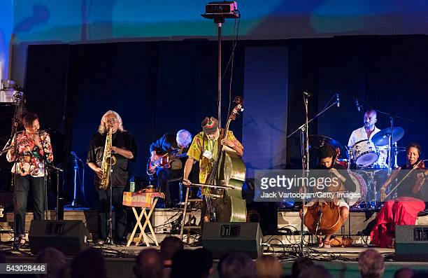 America jazz musician Henry Grimes plays upright acoustic bass as he leads his septet during at the 'Celebrating Henry Grimes' Lifetime of...