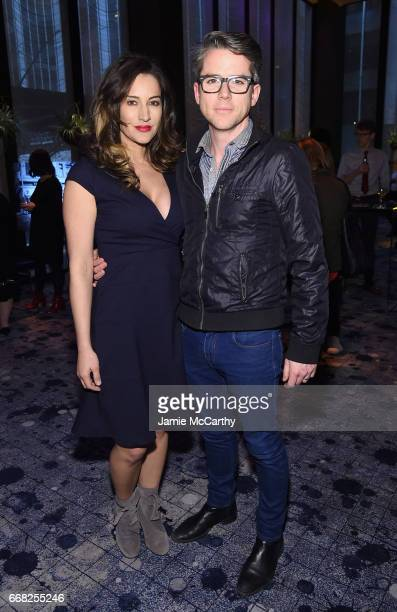 America Olivo and Christian Campbell attend The Hollywood Reporter 35 Most Powerful People In Media 2017 at The Pool on April 13 2017 in New York City