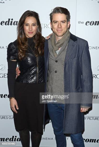 America Olivo and Christian Campbell attend the screening of Sony Pictures Classics' 'The Comedian' hosted by The Cinema Society with Avion and...