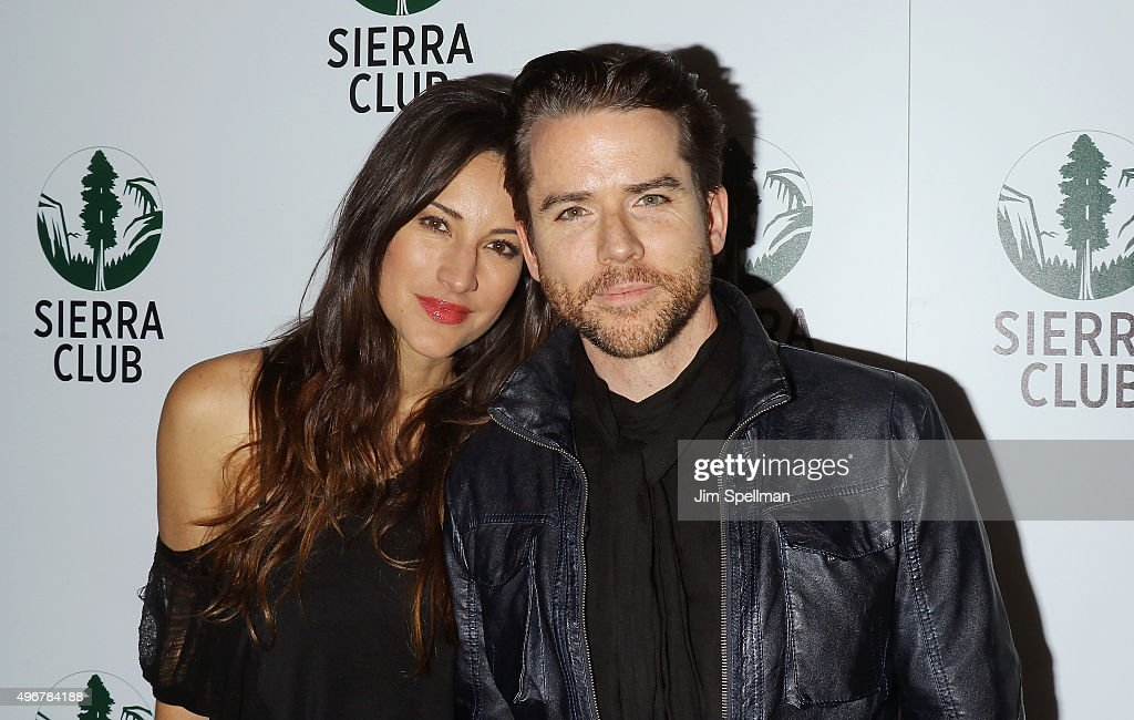 America Olivo and Christian Campbell attend the Sierra Club's Act In Paris, a night of comedy and climate action at Heath at the McKittrick Hotel on November 11, 2015 in New York City.