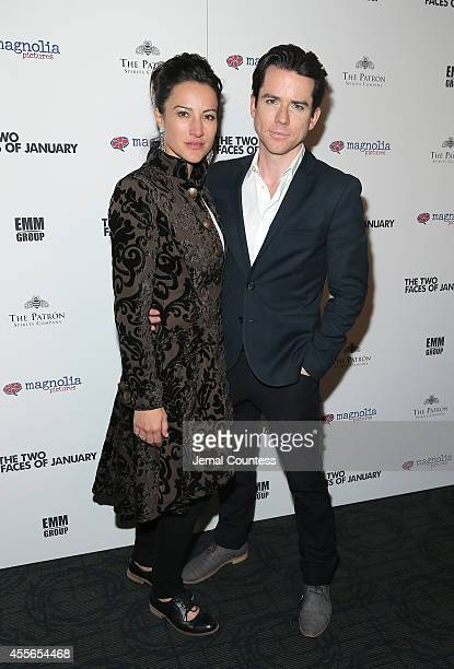 America Olivo and Christian Campbell attend the 'The Two Faces Of January' New York Premiere at Landmark's Sunshine Cinema on September 17 2014 in...