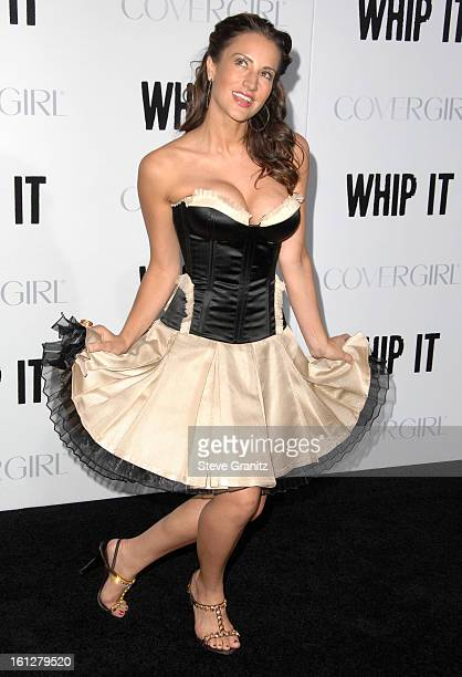 America Olivo arrives at the Los Angeles premiere of 'Whip It' at the Grauman's Chinese Theatre on September 29 2009 in Hollywood California