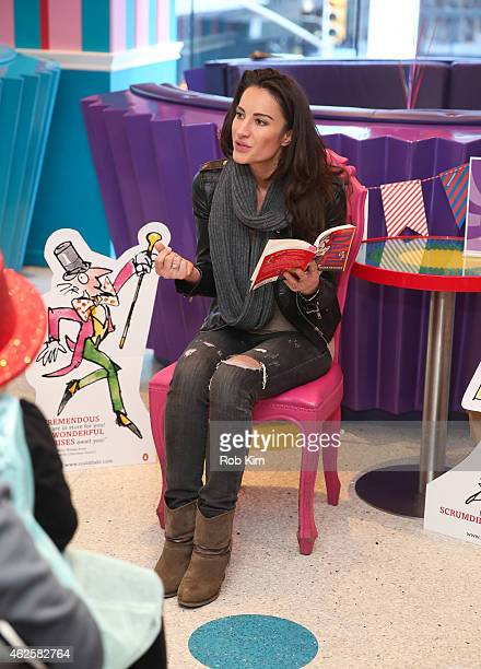 America Olivo attends Dylan's Candy Bar and Milk Bookies Partner NY launch of the 50th Anniversary Charlie and the Chocolate Factory Capsule...