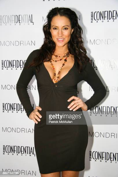 America Olivo attends Los Angeles Confidential Magazine pre Golden Globes Party with Ralph Fiennes at Skybar on January 10 2009 in Los Angeles...