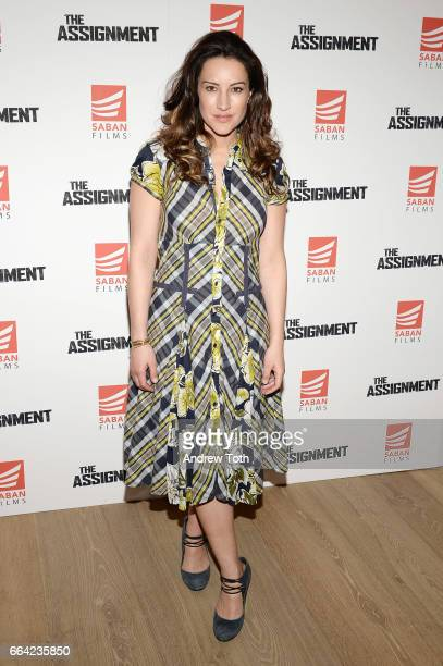 America Olivo attends 'The Assignment' screening at the Whitby Hotel on April 3 2017 in New York City