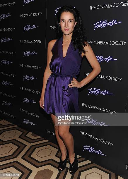 America Olivo attends the Cinema Society screening of 'Footloose' at the Tribeca Grand Hotel Screening Room on October 12 2011 in New York City