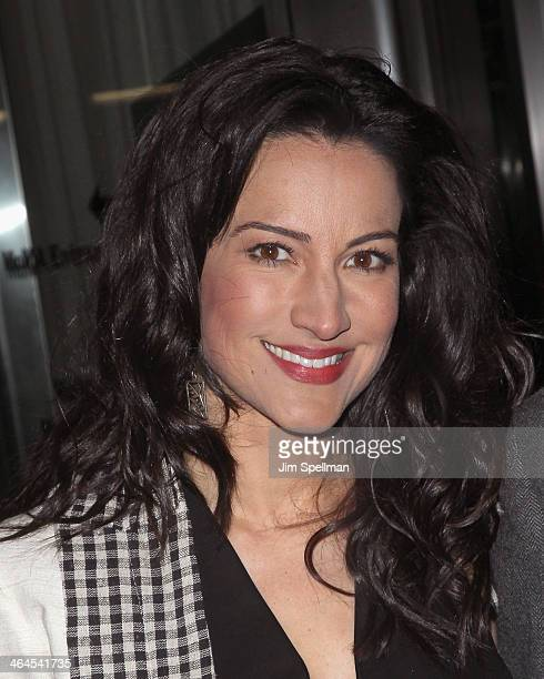 America Olivo attends the 'Gimme Shelter' screening hosted by Roadside Attractions and Day 28 Films with The Cinema Society on January 22 2014 in New...