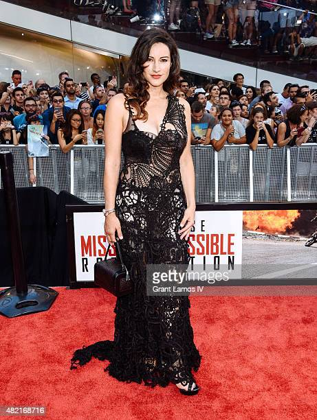 America Olivo attends the 'Mission Impossible Rogue Nation' New York Premiere at Duffy Square in Times Square on July 27 2015 in New York City