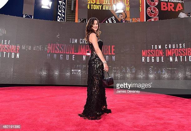 America Olivo attends the 'Mission Impossible Rogue Nation' New York premiere in Times Square on July 27 2015 in New York City