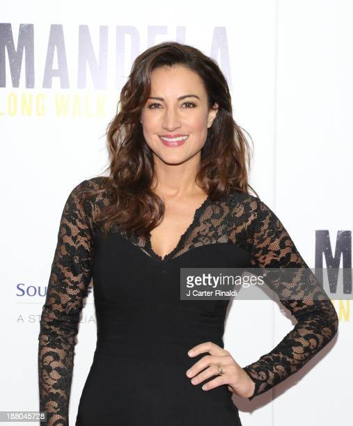 America Olivo attends the screening of 'Mandela Long Walk to Freedom' hosted by The Weinstein Company Yucaipa Films Videovision Entertainment...