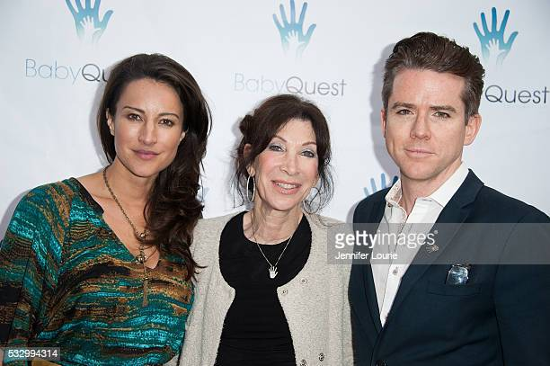 America Olivo Pamela Hirsch and Christian Campbell arrive at the 2nd Annual 'Let's Make A Baby' Fundraiser Gala on May 19 2016 in Toluca Lake...