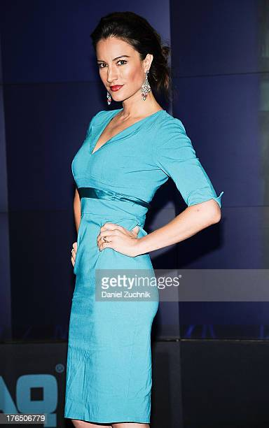 America Olivo rings the opening bell at the NASDAQ MarketSite on August 14 2013 in New York City