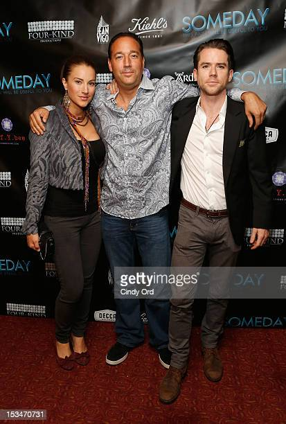 America Olivo Ron Stein and Christian Campbell attend the 'Someday This Pain Will Be Useful To You' New York Screening at Village East Cinema on...