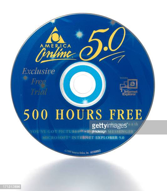 America Online 500 Hours Free Trial Internet Service Compact Disc