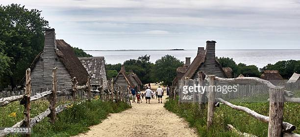 America Usa Massaxhusetts State Plymouth Town The Plimoth Plantation A Living History Museum About The Plymouth Colony Established In 17th Century By...