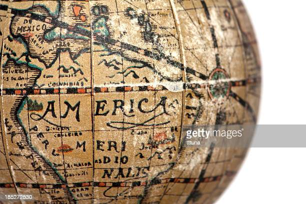 america world, cut out on white background