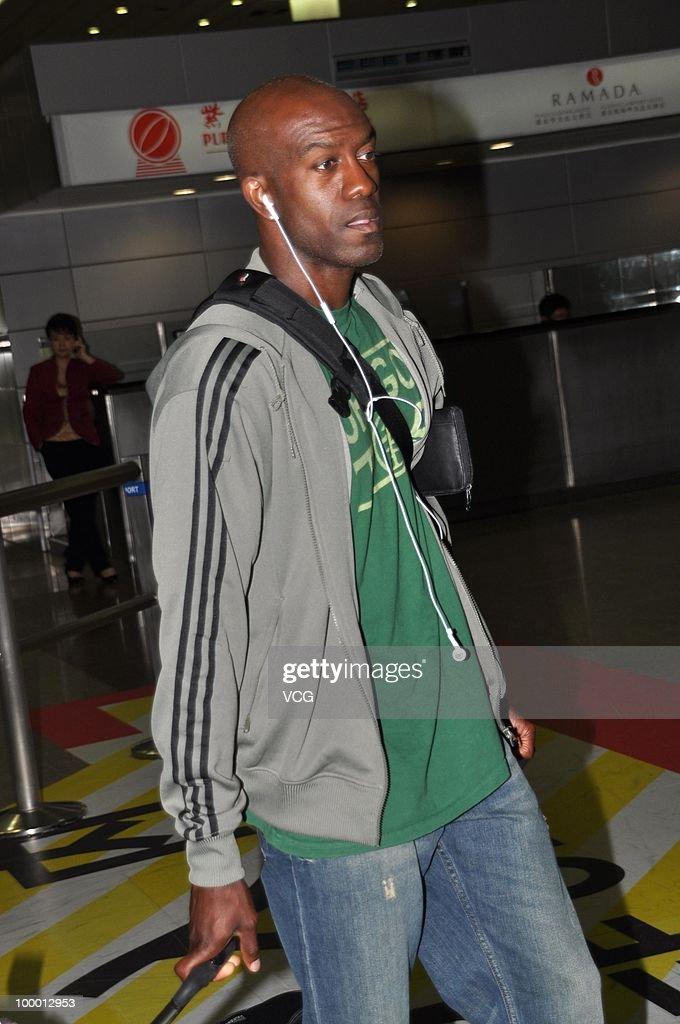 Usain Bolt Arrives In Shanghai For IAAF Diamond League